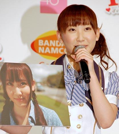 AKB48の恋愛妄想ゲームの第2弾『AKB1/48 アイドルとグアムで恋したら…』の制作発表会に出席した仁藤萌乃 (C)ORICON DD inc.