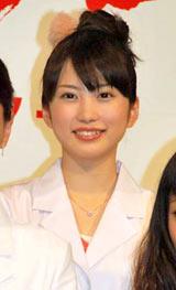 ドラマ『ブルドクター』(日本テレビ系)の制作発表会見に出席した志田未来