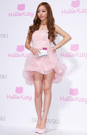 "『SWAROVSKI presents""House of Hello Kitty""』のオープニングレセプションに出席した、KARAのク・ハラ (C)ORICON DD inc."