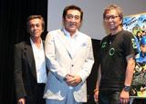 三池崇史監督(右)のトークイベントにゲスト出演した(左から)寺島進、松方弘樹
