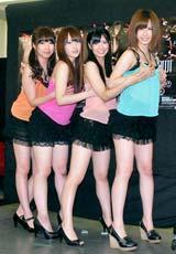 舞台『DUMP SHOW!』の公開舞台稽古を行った(左から)佐藤夏希、佐藤亜美菜、倉持明日香、大家志津香