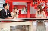 (左から)東野幸治、藤本景子(関西テレビアナウンサー)、山本モナ