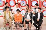 (後列左から)ダイアン、シャンプーハット(前列左から)月亭八光、山田花子、メッセンジャーあいはら、山崎邦正