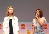 『JAPAN EXPO』でフィルムコンサートを行った元モーニング娘。の吉澤ひとみ(左)と石川梨華 (C)ORICON DD inc.