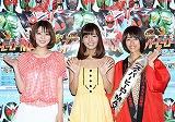 (左から)芳賀優里亜、にわみきほ、前田有紀アナウンサー (C)テレ朝チャンネル