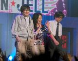 新ドラマ『美男(イケメン)ですね』プレミア制作発表に出席した(左から)六角精児、井森美幸、山崎樹範