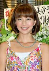 舞台『郵便配達夫の恋』の初日公演前に報道陣のインタビューに応じた安田美沙子