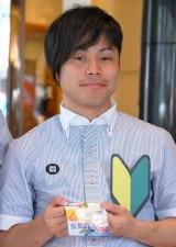 ドトールコーヒーショップの1日店長を務めた、NON STYLEの井上裕介  (C)ORICON DD inc.