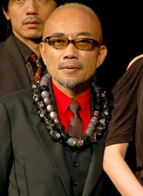劇団EXILEの第5回舞台公演『レッドクリフ−愛』『レッドクリフ−戦−』の製作発表会見に出席した竹中直人