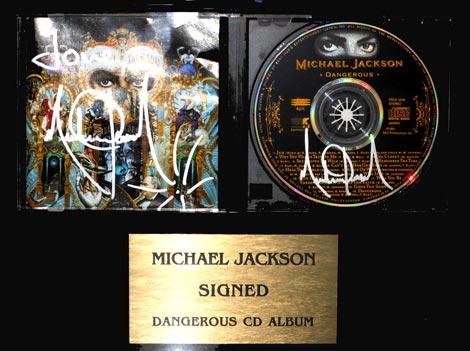 直筆サイン入りのCD「デンジャラス」