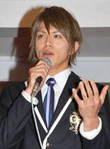 TBS系ドラマ『桜蘭高校ホスト部』の制作発表会に出席した山本裕典