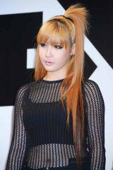 YG FAMILY専用レーベル・YGEX(ワイジーエックス)設立会見に出席した、2NE1・BOM (C)ORICON DD inc.