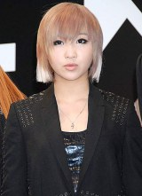 YG FAMILY専用レーベル・YGEX(ワイジーエックス)設立会見に出席した、2NE1・MINZY (C)ORICON DD inc.