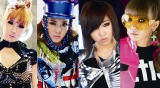 2NE1(左からBOM、DARA、MINZY、CL)