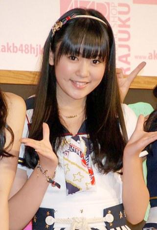AKB48初の路面店オフィシャルショップ『AKB48 OFFICIAL SHOP HARAJUKU』の記者発表会に出席した多田愛佳 (C)ORICON DD inc.