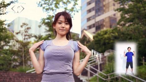 サムネイル 美女が日替わりで登場する『美人ラヂオ体操』(写真は初回放送に登場する松原渓)