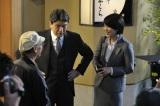 松本幸四郎&松たか子親子が共演する、サントリー缶コーヒー『ボス ゼロの頂点 −カロリーゼロ−』のテレビCMメイキングカット