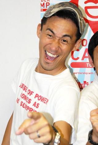 『YOSHIMOTO WONDER CAMP TOKYO@ルミネ 吉本新喜劇SP』出演後、報道陣の取材に応じた石田靖 (C)ORICON DD inc.