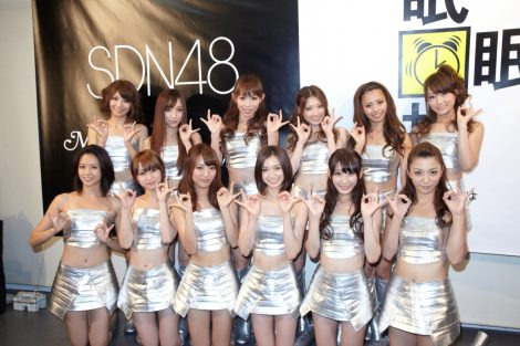 新曲「MIN・MIN・MIN」の発売記念イベントを行ったSDN48