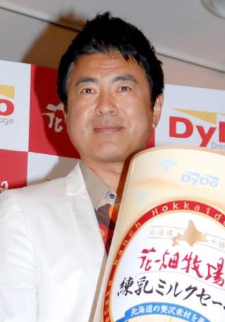 『DyDo』×『花畑牧場』の初コラボレート商品発表会に出席した田中義剛 (C)ORICON DD inc.