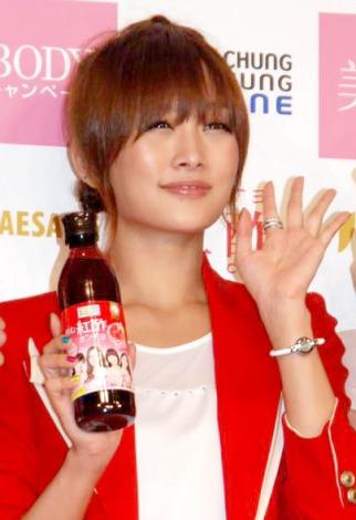 飲むお酢『紅酢(ホンチョ)』の新CM発表会に出席したKARAのニコル (C)ORICON DD inc.
