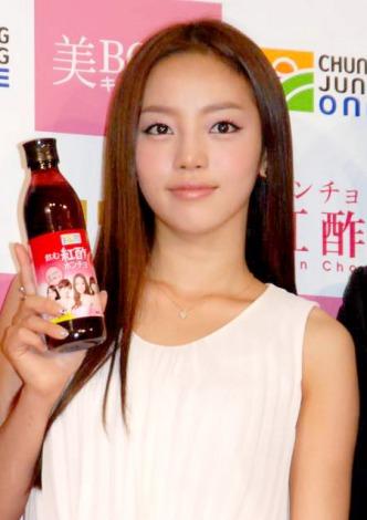 飲むお酢『紅酢(ホンチョ)』の新CM発表会に出席したKARAのハラ (C)ORICON DD inc.