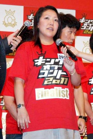 『キングオブコント2011』決勝に進出したトップリードの代理で会見に出席したマネージャー (C)ORICON DD inc.