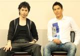 ライフスタイル誌『グローバルワーク』で対談した、俳優・水嶋ヒロとサッカー日本代表のキャプテン・長谷部誠選手(右)