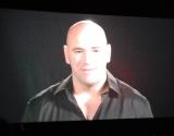 VTRで会見に出演した、UFC社長のデイナ・ホワイト氏 (C)ORICON DD inc.