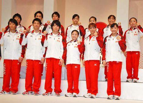 フジテレビ系で放送される『世界体操 東京2011』の番組発表会に出席した、内村航平選手ら世界体操日本代表\メンバー (C)ORICON DD inc.