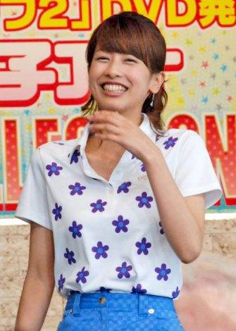 DVD『フジテレビ女性アナウンサー みんなでゴルフ2』の発売記念イベントに登場した加藤綾子アナウンサー