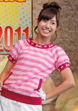 DVD『フジテレビ女性アナウンサー みんなでゴルフ2』の発売記念イベントに登場した山崎夕貴アナウンサー