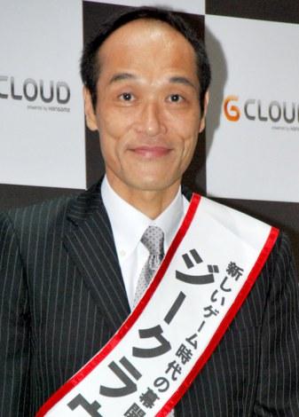 NHN Japan『ジークラウド』プレス発表会に出席した東国原英夫氏 (C)ORICON DD inc.