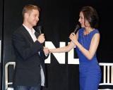 海外ドラマ『サウスランド』シーズン3主演俳優のベン・マッケンジー(左)の初来日会見にゲストとして出席した杉本彩 (C)ORICON DD inc.