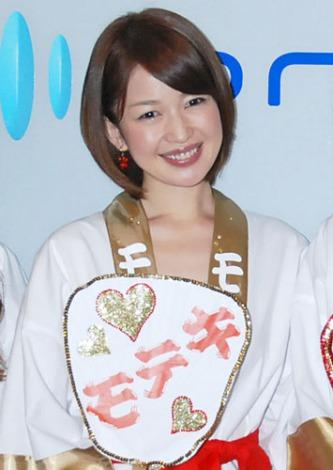映画『モテキ』PRのためオリコンに来社したテレビ東京の松丸友紀アナウンサー (C)ORICON DD inc.