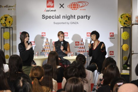 『illy issimo × BEAMS 十五夜のスペシャルナイトパーティー Supported by GINZA』イベントの模様
