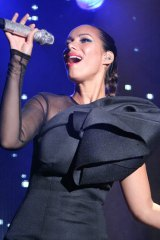 『FOX bs238 開局記者発表会』にスペシャルゲストとして出席した、英歌手のレオナ・ルイス (C)ORICON DD inc.