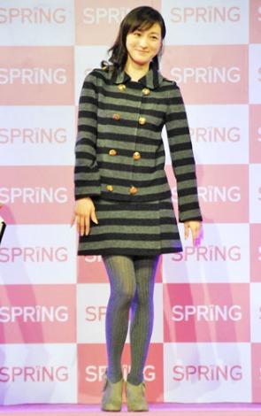 宝島社『SPRiNG』創刊15周年記念イベントにゲスト出演した広末涼子。笑顔でランウェイをウォーキング (C)ORICON DD inc.