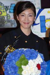 映画『はやぶさ/HAYABUSA』の公開初日舞台あいさつに登壇した竹内結子 (C)ORICON DD inc.