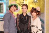 新MCに決定した佐々木希(中央)と共にMCを務める南海キャンディーズ・山崎静代(左)と中川翔子