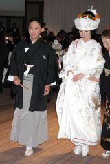 東京・帝国ホテルで行われた林家三平・国分佐智子夫妻結婚披露宴の様子 (C)ORICON DD inc.