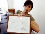 手書きTシャツデザインラフとサイン入りTシャツ2枚を出品する竹野内豊