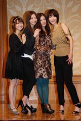 ドラマ『私が恋愛できない理由』記者会見に出席した(左から)大島優子、香里奈、吉高由里子、稲森いずみ (C)ORICON DD inc.