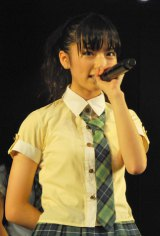 劇場デビュー公演『ひまわり1st「僕の太陽」』を行ったAKB48の新チーム「チーム4」の島崎遥香 (C)ORICON DD inc.