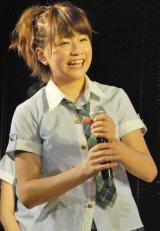 劇場デビュー公演『ひまわり1st「僕の太陽」』を行ったAKB48の新チーム「チーム4」の島田晴香 (C)ORICON DD inc.