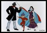 『秋ドラマ期待度ランキング』6位にランクインした原作となるアニメ『妖怪人間ベム』(左から)べム(亀梨和也)、ベロ(鈴木福)、ベラ(杏)