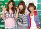 写真集『一期一会 ZONE〜2011年8月の軌跡〜』発売イベントを行ったZONE (左から)TOMOKA、MIYU、MAIKO (C)ORICON DD inc.