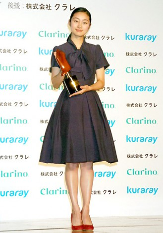 サムネイル 今年度新設されたティーン部門に選ばれた忽那汐里 (C)ORICON DD inc.