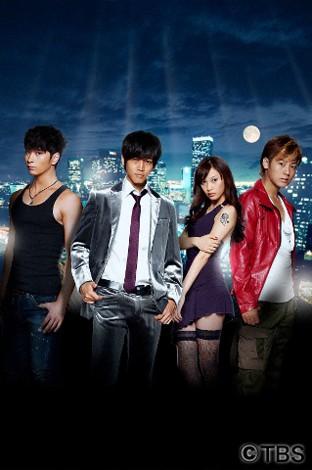 ドラマ『怪盗ロワイヤル』に出演する(左から)チャンソン、松坂桃李、大政絢、福士誠治