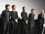 (左から)遠藤要、渡部篤郎、松田翔太、永山絢斗、グ・スーヨン監督
